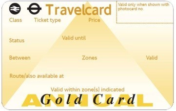 Annual Gold Travel Card