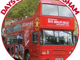 Birmingham Tours Big Brum Open Top Buz Sightseeing Tour